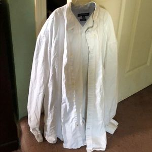Tommy Hilfiger white traditional button down. Xxl